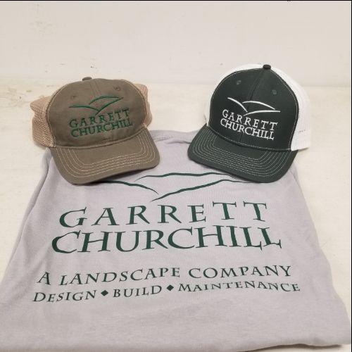 custom hats and custom printed tee