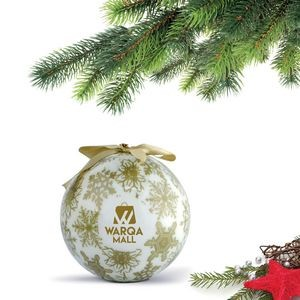 Shatterproof Ball Ornament (Gold) with Gift Boxes