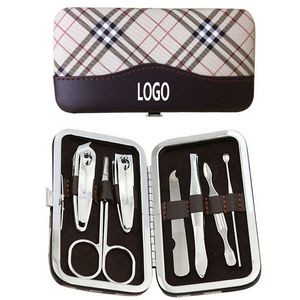 7 Pieces Portable Carbon Steel Nail Art Manicure Set