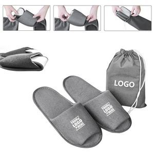 Portable Slipper With Pouch