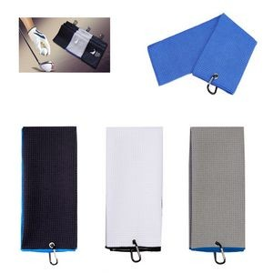 Golf Sport Towel With Carabiner