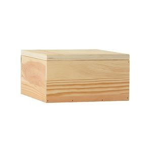 7 x 7 Large Square Wooden Box
