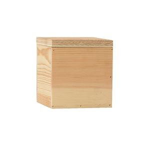 4 x 4 Small Square Wooden Box