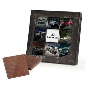 9 Belgian Chocolate Deluxe Squares in Black Gift Box (9 Separate Images)