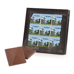 9 Belgian Chocolate Deluxe Squares in Black Gift Box