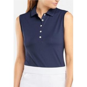 Peter Millar Ladies Solid Sleeveless Jersey Polo