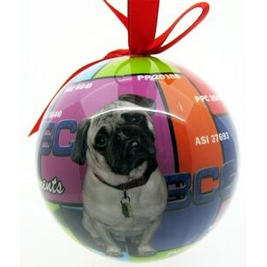 4-Color Process Fully Wrapped Shatterproof Custom Plastic Ornament (2.25