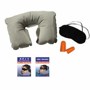 Travel Kit with Pillow/ Eye Cover & Ear Plugs