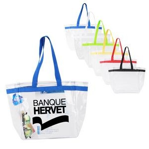 Clear Custom Tote Bag with Color Handle