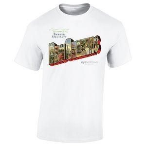 3600-L12 - T-Shirt - Full-Color On White/Very Light T-Shirt (Up To 12